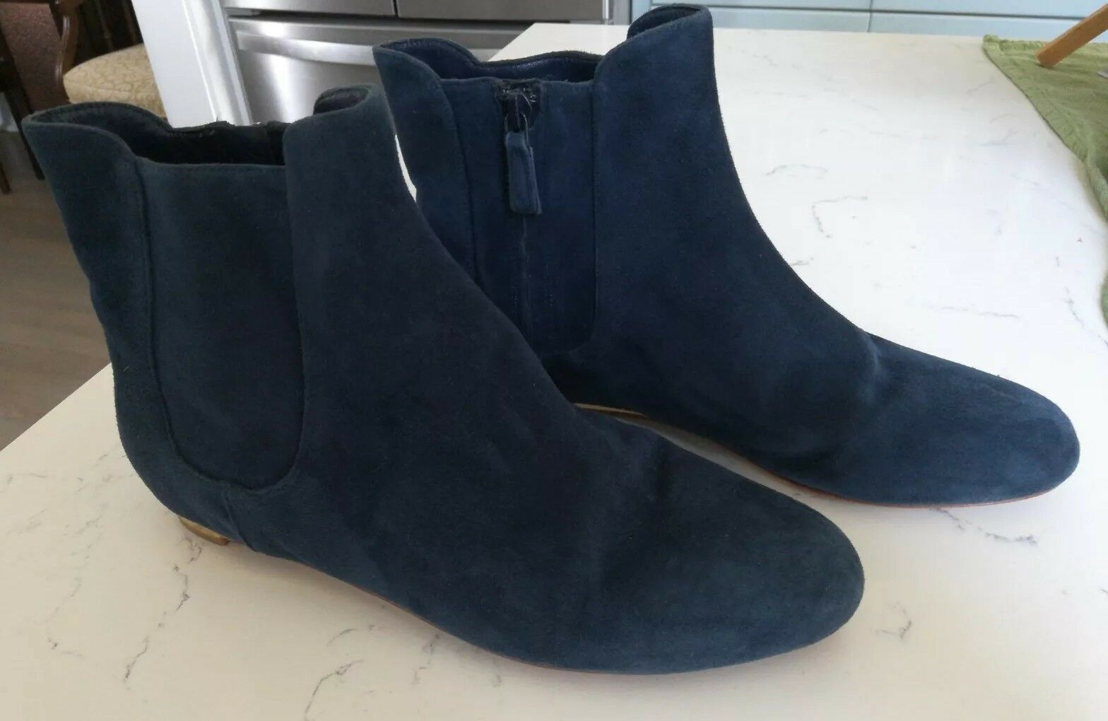 Cole Blue/Navy Haan Blue/Navy Cole Suede Ankle Boots 8.5 fd5fc9