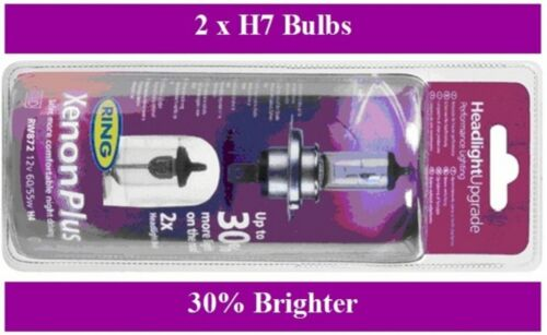H7 Ring Xenon Plus Headlight Bulbs x 2 Fits Mercedes A B C E Class CLK Sprinter