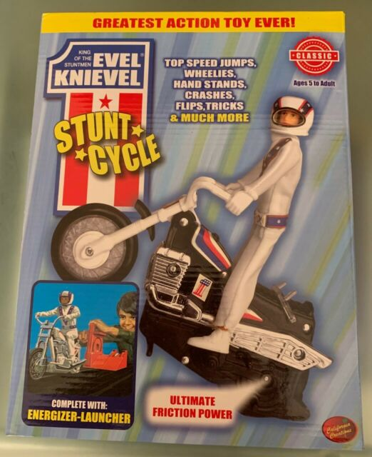 Evel Knievel Stunt Cycle New in Sealed Box! King of the Stuntmen 70's Daredevil
