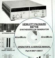 Hp 8671b Operating & Service Manual (good Schematics)