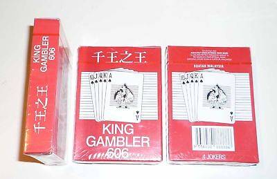 Playing Cards RUMMY KING 001 Card 52 4J Pack Deck Red Malaysia 2009