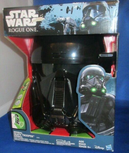 Disney Star Wars Rogue Uno Imperiale Death Trooper Voice Changer Mask, Nuovo 5+ Facile Da Lubrificare