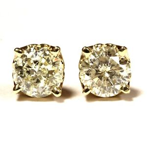 14k-yellow-gold-1-46ct-4-prong-lace-Clarity-Enhanced-round-diamond-stud-earrings