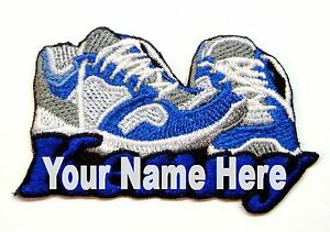 Running Shoes / Cross Country Custom Iron-on Patch With Name Personalized Free