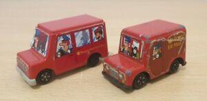 Vintage-80-90s-ERTL-Woodland-Animations-Postman-Pat-Diecast-Metal-Vehicles-Vans
