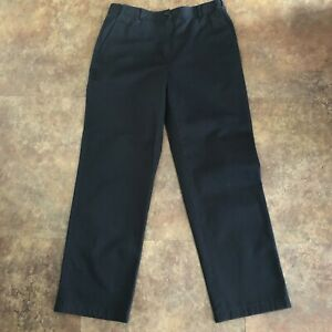 L-L-Bean-Pants-Womens-10-Black-Bayside-Hidden-Comfort-Waist-Wrinkle-Free