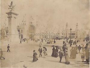 Exposition-Universelle-de-Paris-1900-Grande-Photo-Vintage-albumine