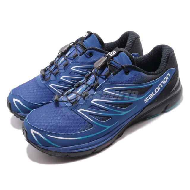 new styles 7e023 b9e0c Salomon Sense Mantra 3 Blue Black White Men Trail Running Shoe Sneaker  L39013100