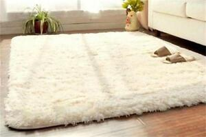 Image Is Loading Beige Soft Fluffy Rugs Anti Skid Rug Living