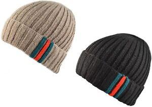 uomo o donna a maglia doppia beanie inverno berretto di Lana ... cef474066438