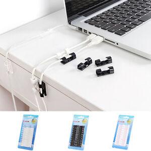 20pcs-Kunststoff-Clip-kabel-Selbstklebend-Kabelclips-Kabelschellen-Kabelhalter
