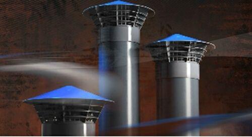 Entlüftungshaube  Dunsthut  Dachentlüfter  DN 160   160mm   Montage ins Rohr