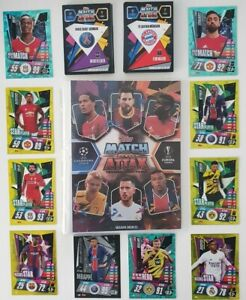 2020/21 Match Attax UEFA - 50 cards inc 10 shiny (1 Limited) + FREE Folder