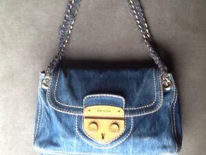 2a3aac62b7c5 ... shoulder crossbody top handle blue denim satchel tradesy d7c24 23ae6;  spain image is loading prada denim handbag original with certificate dfd4f  76a41