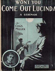1911-Won-039-t-you-come-out-Lucinda-sheet-Music-by-Chas-Miller-murray-Whiteman