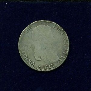 MEXICO WAR OF INDEPENDENCE ZACATECAS 1817-ZsAG 8 REALES SILVER COIN