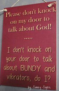Naughty-Door-Knockers-Bundy-Vibrator-God-Sign-soliciting-warning-vibrators-rum