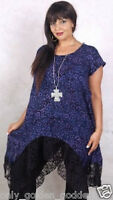 Purple Black Top Blouse With Lace Extremely Very Pretty Plus 2x 3x 4x Zc706