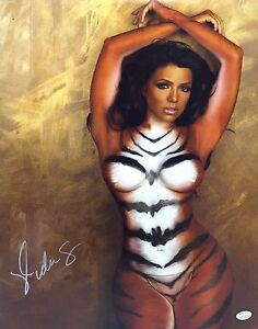 Vida Guerra Signed 16x20 Photo *Tiger Body Paint JSA WP339868