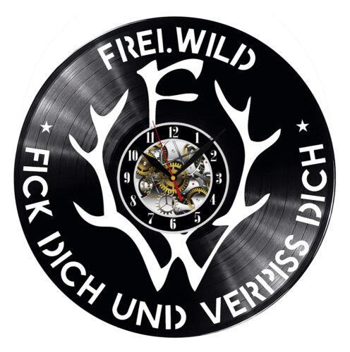 Frei.Wild Wanduhr Vinyl Schallplatte Retro Uhr Handgefertigt Vintage Geschenk