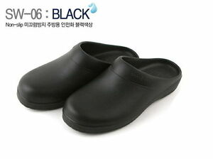 Black New Chef Shoes Clog Non-Slip Safety Cook Kitchen water safe ...