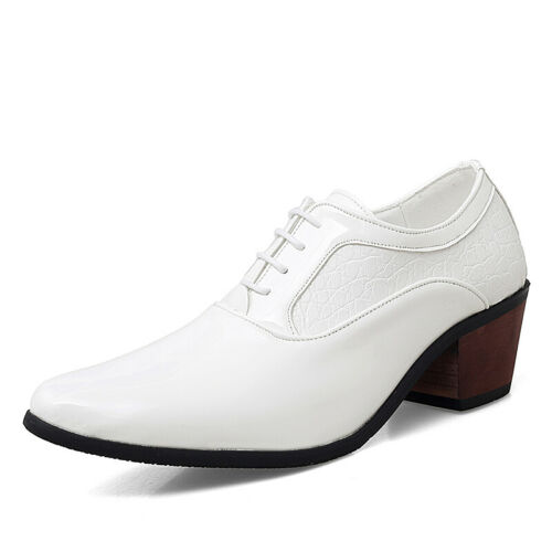 Details about  /New Mens Dress Formal Faux Leather Shoes Pointy Toe Oxfords Shiny Party Dance L