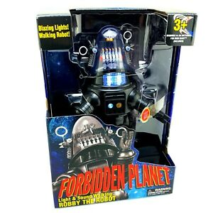 Forbidden-Planet-Robby-The-Robot-Figure-Light-amp-Walking-Sound-New-in-Box