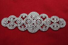 Diamante Rhinestone Applique Motif Patch Sew on Bridal Dress Decorations 96