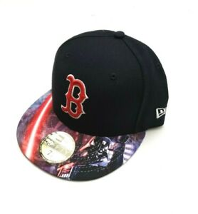 562c25db New Era Boston Red Sox 59Fifty Dark Vader Viza Print Fitted Hat Size ...