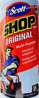 Scott Shop Towels Original Multi-purpose Strong Absorbs Oil Grease, 1 Or 2 Rolls