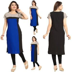 Indian Pakistani Designer Party Kurta Kurti Tunic Dress Women SC2415 UK STOCK