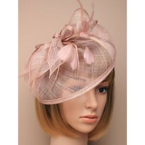 Image Is Loading Brown Fascinator Hat Weddings Brides Mother Christenings