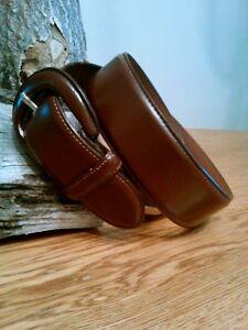 Vintage Ralph Lauren Dark Brown Genuine Leather Belt Men's Medium