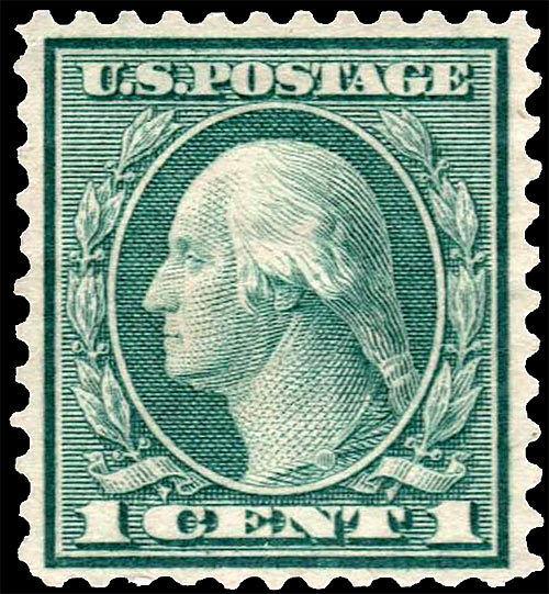 1921 1c George Washington, Green Scott 545 Mint F/VF NH