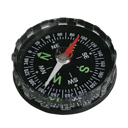Mini Portable Pocket Compass for Outdoor Sports Camping Hiking Navigation Black