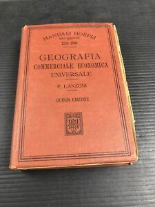 B35-Hoepli-Geografia-Quinta-Edizione-Lanzoni-Sottolineato-Penna