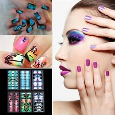 Mixed 6 Styles Scenery Landscape Full Cover Self Adhesive Nail Art Stickers JL