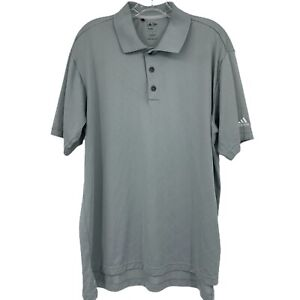 Adidas-Golf-L-Grey-ClimaCool-Polo-Shirt-Short-Sleeve-Athletic-Outdoors