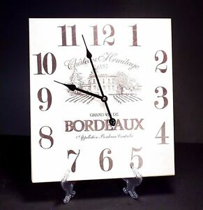 Vintage-Old-Fasion-Style-Hanging-Wall-Clock-Bordeaux-Wine-Design-38-cm-High