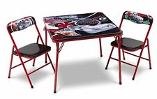 Disney Cars Childrens Metal Table And Two Chairs Set Kids Bedroom Playroom