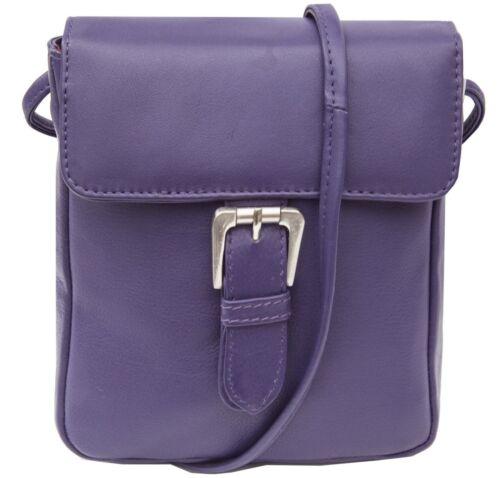 Small New Ladies Bag Purple Prime Buckle Hide Crossbody Leather Victoria qpvZf