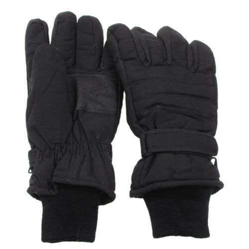 nuevo! Guantes dedos guantes negro muy thinsulate caliente S M L XL XXL XXXL