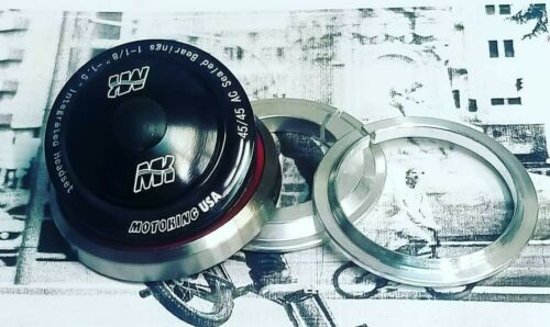 """Fits Haro DK Speedco Rival Redline GT MotoKing BMX 1.5/"""" Tapered Headset Black"""