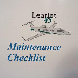 bombardier learjet 45 maintenance checklist manual ebay rh ebay com Learjet 35 Crash Learjet 60 Interior