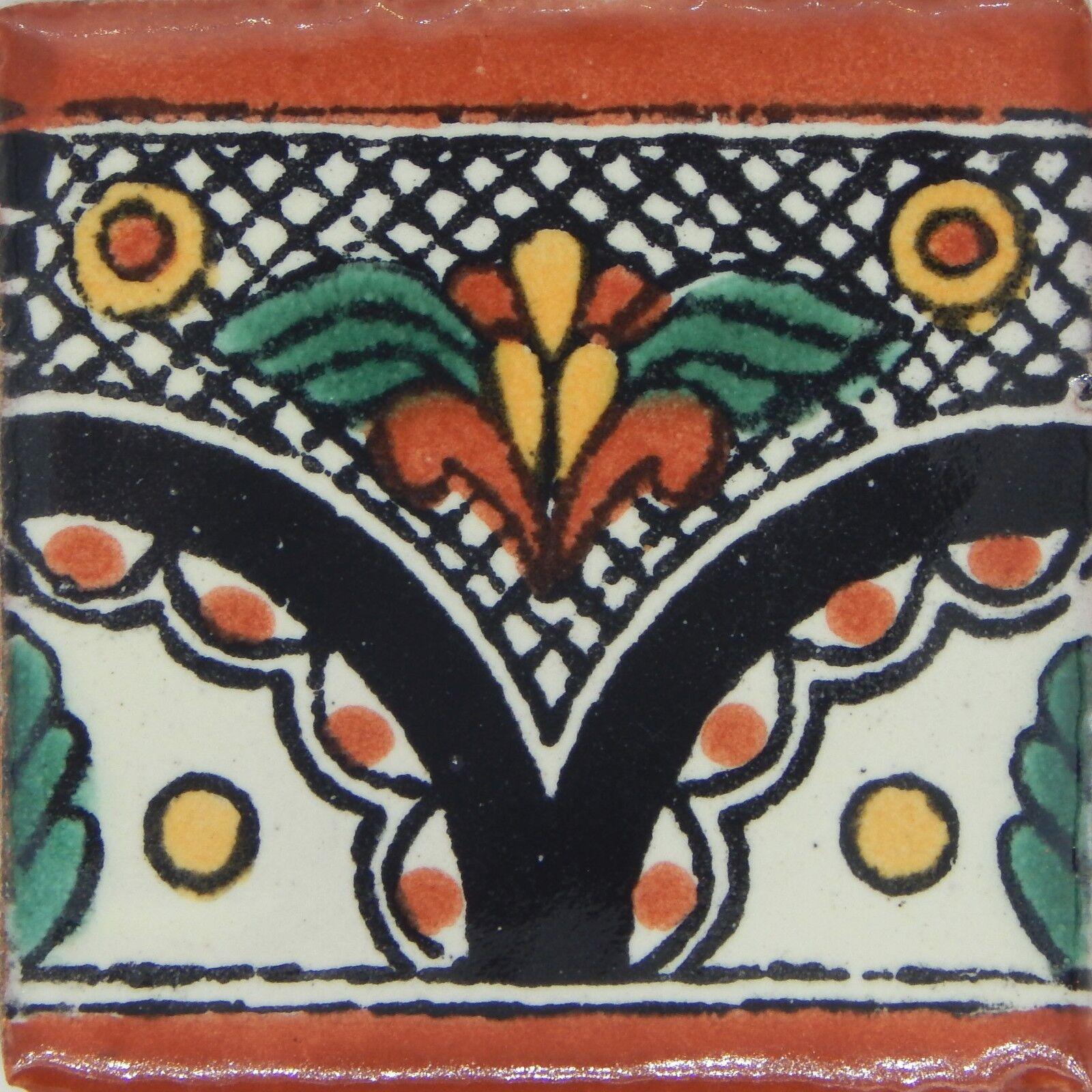 100 MEXICAN TALAVERA  TILE 2x2