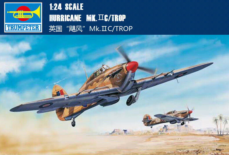 Trumpeter 02416 Aircraft Model Kit 1 24 Hawker Hurricane Mk.IIC Trop Fighter