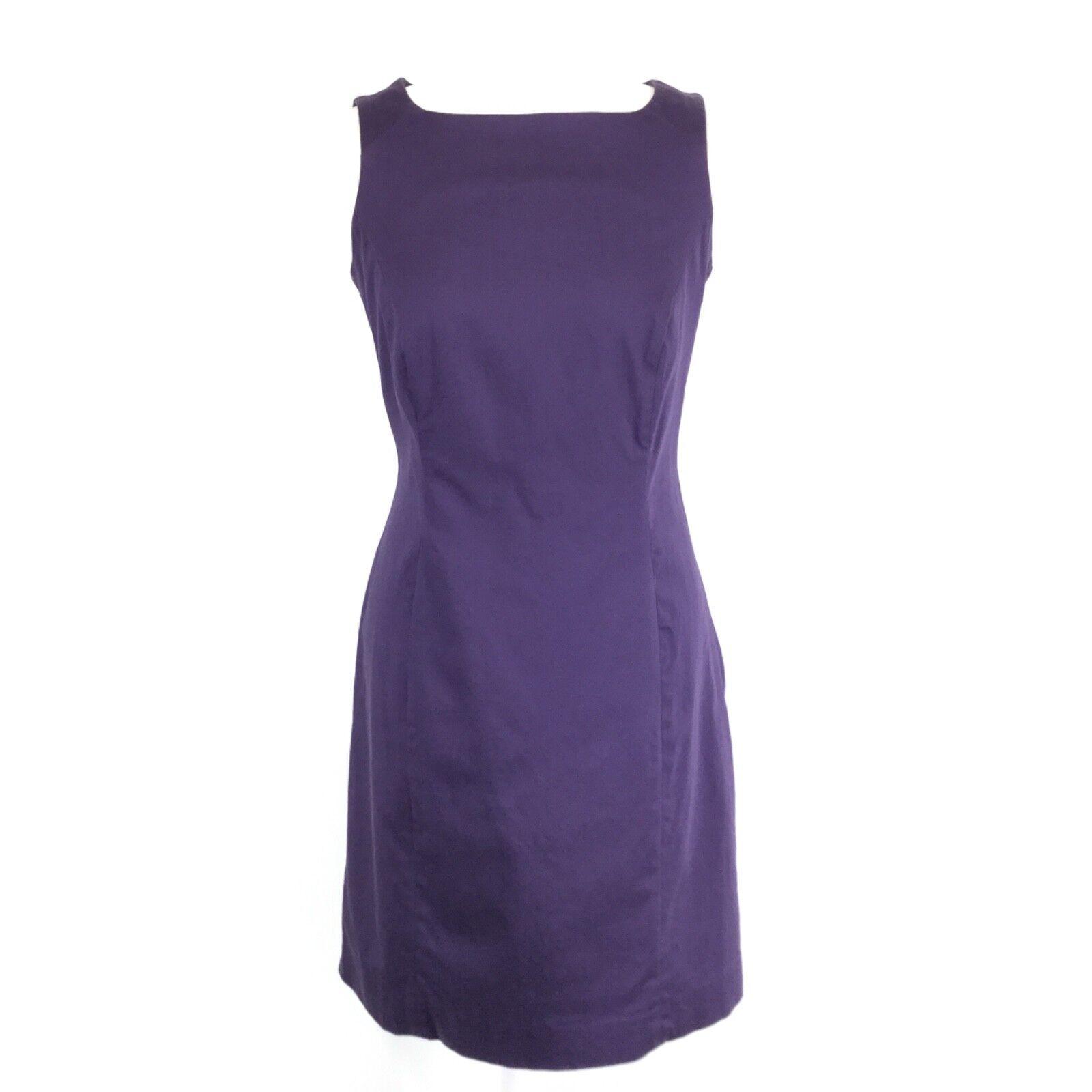 HOBBS Purple Classic Sleeveless Pencil Wiggle Dress 12