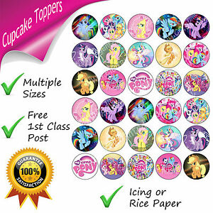 MY LITTLE PONY CUPCAKE TOPPERS BIRTHDAY PARTY MY LITTLE PONY