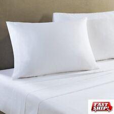 2 NEW 108x110 t250 CAL KING FLAT SHEET HOTEL SPA RESORT GRADE BRIGHT WHITE