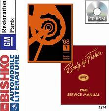 1968 Pontiac Catalina Tempest GTO Shop Service Repair Manual DVD OEM Guide